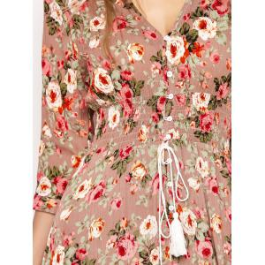 Button Front Floral Casual Summer Maxi Dress - FLORAL M