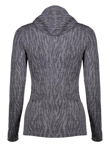 New Dry-Quick Heathered Drawstring Hoodie - L GRAY Mobile