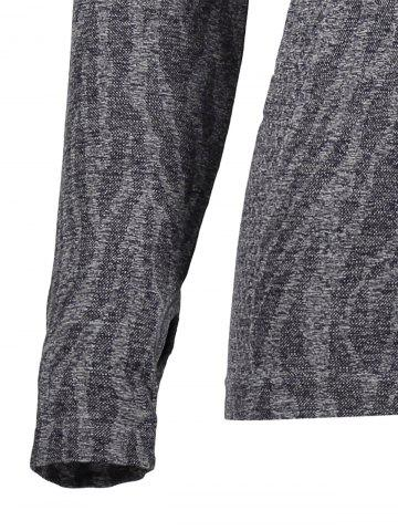 Shop Dry-Quick Heathered Drawstring Hoodie - L GRAY Mobile