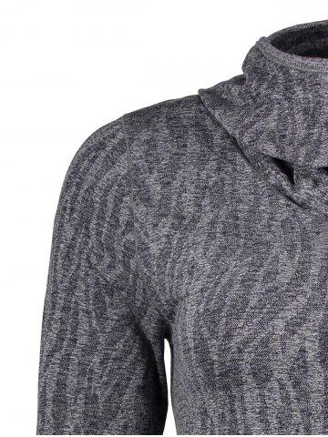 Store Dry-Quick Heathered Drawstring Hoodie - L GRAY Mobile