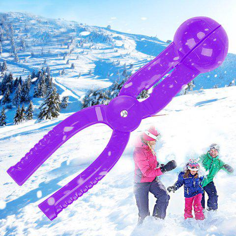 1 PCS PE Snowball Clip 7cm Diameter Spoon - Purple