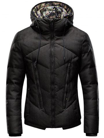 Hot Plus Size Zipper Design Cotton Padded Jacket