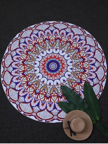 Affordable Round Printed Tapestry Beach Throw - ONE SIZE COLORMIX Mobile