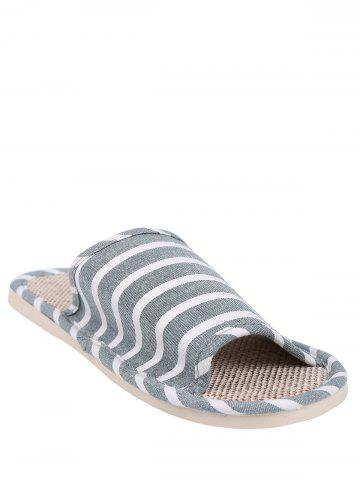 Affordable Striped Cotton Fabric Bath Slippers