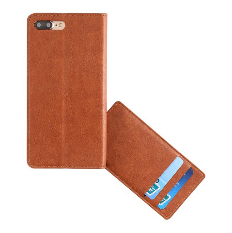 Shops Flip Faux Leather Wallet Stand Holder Case For iPhone - FOR IPHONE 6 PLUS / 6S PLUS BROWN Mobile