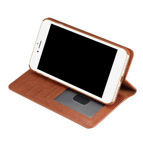 Unique Flip Faux Leather Wallet Stand Holder Case For iPhone - FOR IPHONE 6 PLUS / 6S PLUS BROWN Mobile