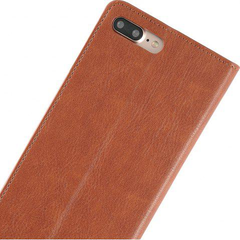 Chic Flip Faux Leather Wallet Stand Holder Case For iPhone - FOR IPHONE 6 PLUS / 6S PLUS BROWN Mobile