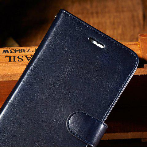 New Faux Leather Flip Wallet Case with Card Slot For iPhone - FOR IPHONE 7 DEEP BLUE Mobile