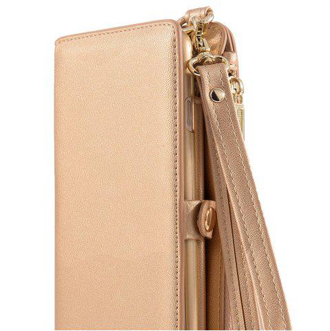 Cheap Multifounction Faux Leather Card Slot Flip Wallet Case For iPhone - FOR IPHONE 7 PLUS ROSE GOLD Mobile