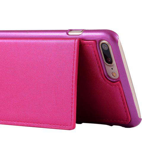 Buy Multifounction Faux Leather Card Slot Flip Wallet Case For iPhone - FOR IPHONE 7 PLUS ROSE MADDER Mobile