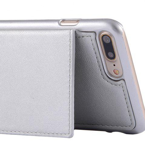 Latest Multifounction Faux Leather Card Slot Flip Wallet Case For iPhone - FOR IPHONE 7 SILVER Mobile