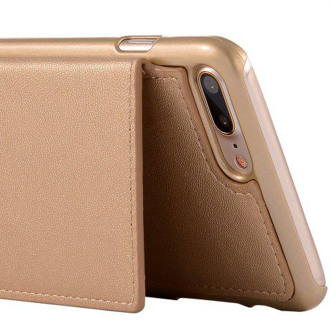 Trendy Multifounction Faux Leather Card Slot Flip Wallet Case For iPhone - FOR IPHONE 6 / 6S ROSE GOLD Mobile