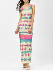 Cut Out Tie-Dye Dress