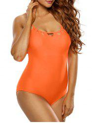 Strappy One Piece Padded Bra Swimsuit