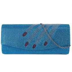 Fingers Pattern Flapped Clutch Bag - LIGHT BLUE