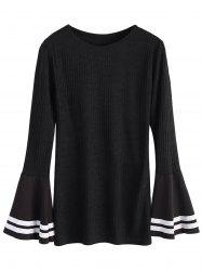 Bell Sleeve Ribbed Layering Top