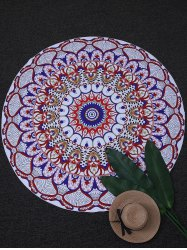 Round Printed Tapestry Beach Throw
