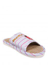 Insect Striped Jute Insert Indoor Slippers -