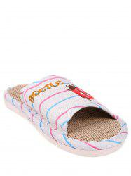 Insect Striped Jute Insert Indoor Slippers