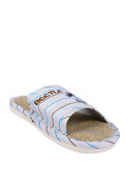 Jute Panel Beetle Striped House Slippers