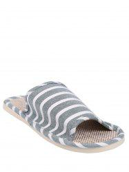 Striped Cotton Fabric Bath Slippers