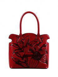Flower Eombossing Scalloped Handbag
