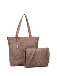 PU Leather 3PCS Tote Bag Set