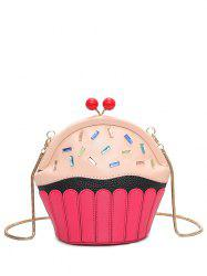 Funny Rhinestone Cupcake Shaped Crossbody Bag