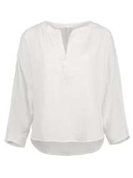 High-Low Loose Blouse - WHITE M