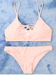 Lace Up Cami Bikini Swimwear