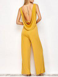 Backless Belted Jumpsuit