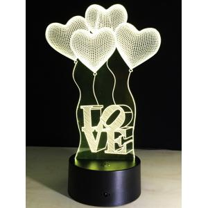 7 Color Changing Heart Balloon LED Night Light For Valentine Day - COLORFUL