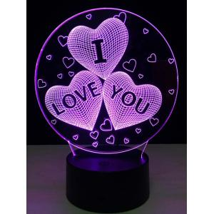 Colorful Valentine Birthday Gift 3D Visual Colorful LED Touch Night Light