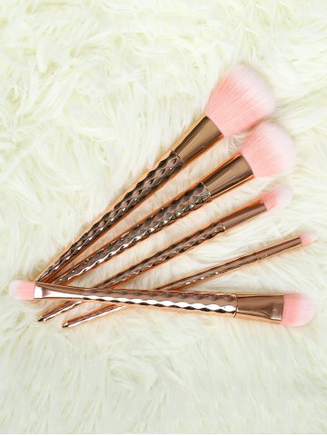 Shops 5 Pcs Rhombus Handle Makeup Brushes Set