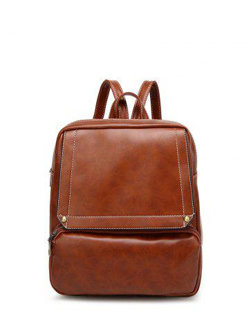 Sale Faux Leather Stitching Backpack