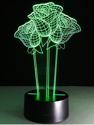 Fancy 3D Rose Flower Color Changing LED Night Light For Valentine Day - COLORFUL  Mobile
