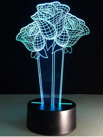Latest 3D Rose Flower Color Changing LED Night Light For Valentine Day - COLORFUL  Mobile