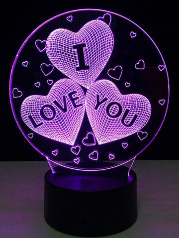 Outfits Colorful Valentine Birthday Gift 3D Visual Colorful LED Touch Night Light COLORFUL