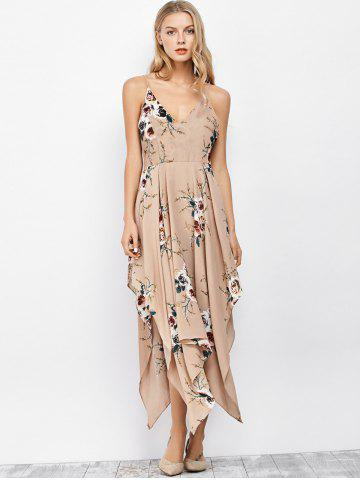 Cami Floral Backless Long Handkerchief Dress