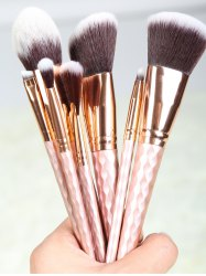 8 Pcs Rhombus Handle Makeup Brushes Set