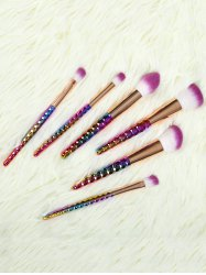 6 Pcs Nylon Ombre Makeup Brushes Set - GOLDEN