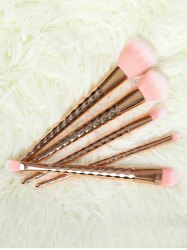 5 Pcs Rhombus Handle Makeup Brushes Set -