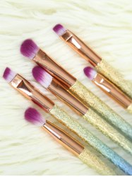 Ombre Glitter Eye Makeup Brushes Set - ROSE GOLD