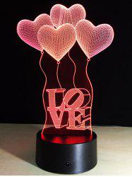 7 Changement de couleur Coeur Balloon LED Night Light Pour la Saint-Valentin - Coloré