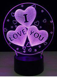 Colorful Valentine 3D anniversaire cadeau visuel coloré LED tactile Night Light - Coloré