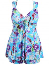 Padded Plus Size Floral Swimwear
