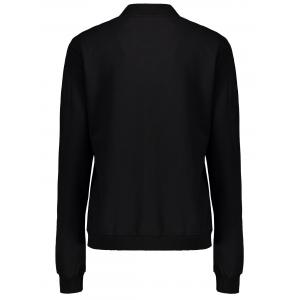 Alien Patern Sweatshirt Jacket - BLACK L