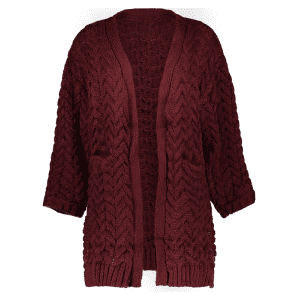Cable Knit Thickening Cardigan -