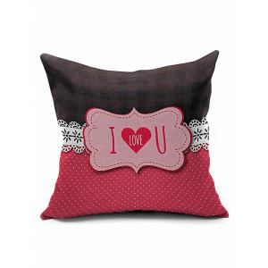 I Love U Letters Heart Valentine Pillow Case