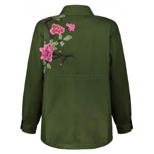 Floral Utility Jacket - ARMY GREEN M